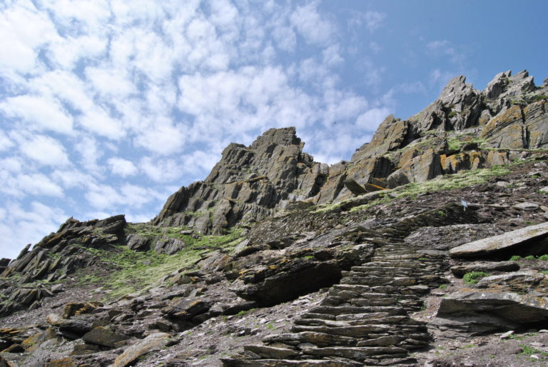 This was the start to the 618 step climb to the top of Skellig Michael, an island outside the coast of southwestern Ireland, where an ancient monastery sits. The monastery was used as a film location for Star Wars Episode VII: The Force Awakens.